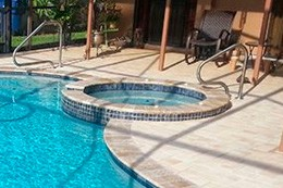 Swimming Pool with spa in St. Petersburg florida