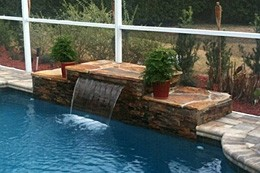 Water Feature pool Designs St. Petersburg